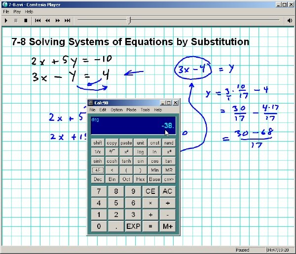Alg 1 Screen Shot